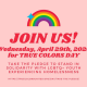 On April 29th we will be joining True Colors United for True Colors Day!
