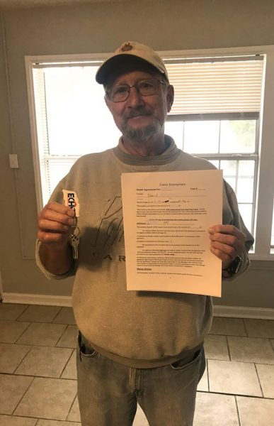 Navy Veteran Gets Permanent Housing david navy veteran