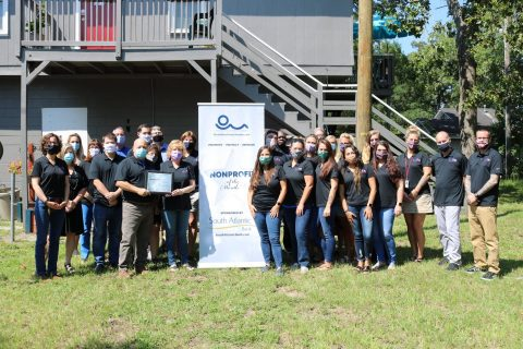 ECHO, Eastern Carolina Housing Organization, is presented with the Non-Profit of the Month Award by Myrtle Beach Chamber of Commerce
