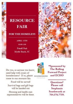 Resource Fair for the Homeless resource fair april 15th